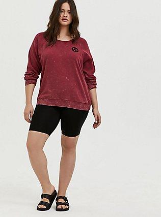 Plus Size Her Universe Marvel Avengers Red Mineral Wash Crew Sweatshirt , TIBETAN RED, alternate