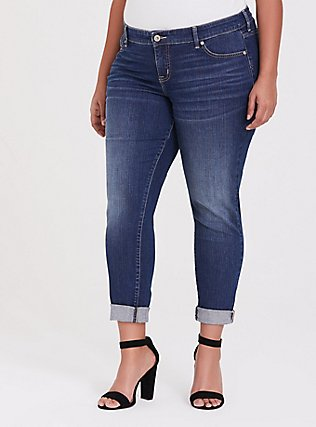 Plus Size Classic Straight Jean  - Vintage Stretch Medium Wash, BACK COUNTRY, alternate