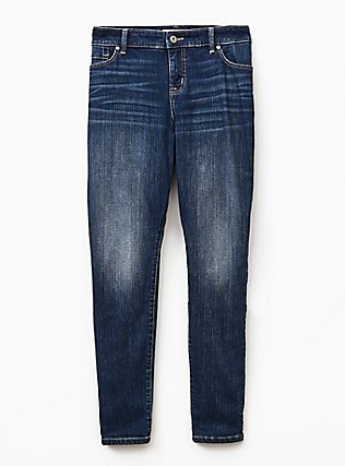 Plus Size Classic Straight Jean  - Vintage Stretch Medium Wash, BACK COUNTRY, flat
