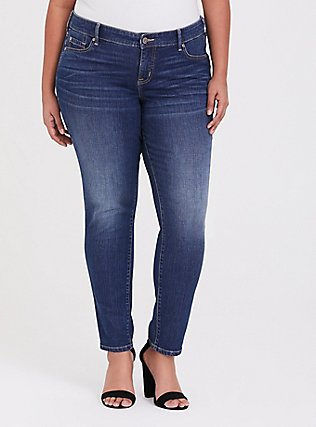 Plus Size Classic Straight Jean  - Vintage Stretch Medium Wash, BACK COUNTRY, hi-res