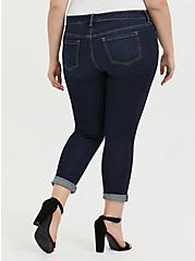 Classic Straight Jean - Vintage Stretch Dark Wash , MOONLIT, alternate