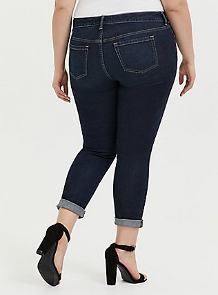 Plus Size Classic Straight Jean - Vintage Stretch Dark Wash , MOONLIT, alternate