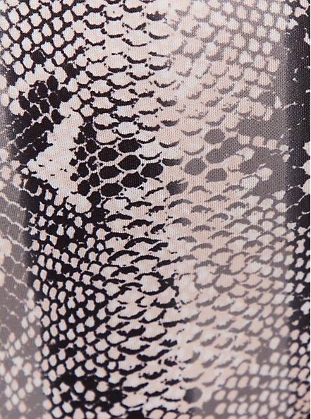 Plus Size Black Snakeskin Print Microfiber & Lace Back Hipster Panty, ELECTRIC SNAKE, alternate