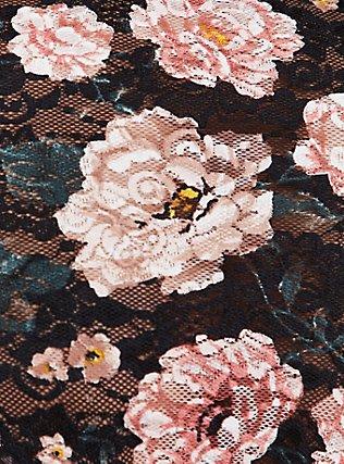 Black Floral Lace High Waist Panty, TANGLED FLORAL, alternate