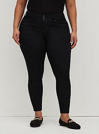 Plus Size Jegging- Super Soft Stretch Black, BLACK, hi-res