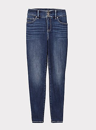 Jegging- Super Soft Medium Wash, BLUE GROTTO, flat