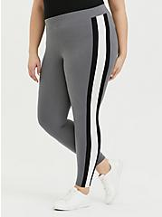 Premium Legging - Side Stripe Grey, GREY, alternate