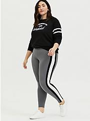 Premium Legging - Side Stripe Grey, GREY, hi-res