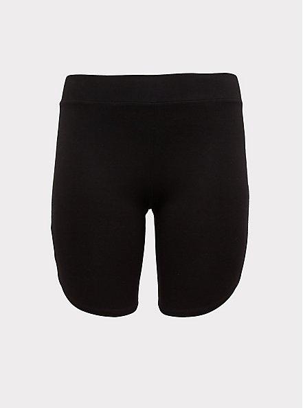 Black Dolphin Hem Bike Short, BLACK, hi-res