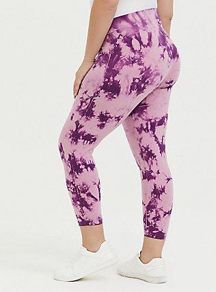 Crop Premium Legging - Tie-Dye Purple, TIE DYE, alternate