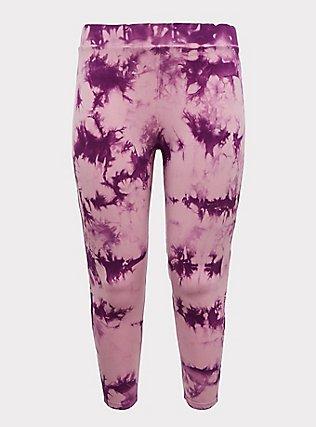 Crop Premium Legging - Tie-Dye Purple, TIE DYE, flat