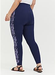 Premium legging - Butterfly Print Purple & Navy, , alternate