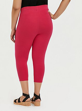 Capri Premium Legging - Hot Pink, PINK, alternate