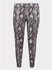 Premium Legging - Snakeskin Print Mauve Pink, ANIMAL, hi-res