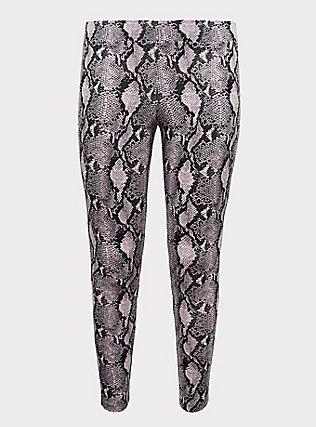 Plus Size Premium Legging - Snakeskin Print Purple, ANIMAL, flat
