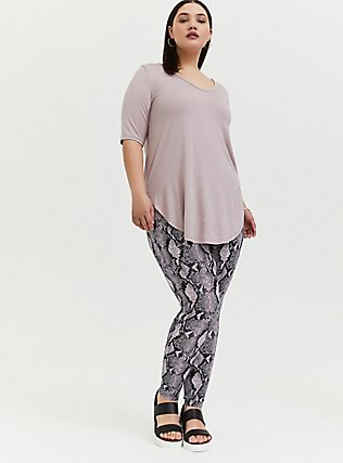 Plus Size Premium Legging - Snakeskin Print Purple, ANIMAL, hi-res