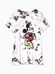 Disney Mickey Mouse White & Black Tie-Dye Crew Top, NINE IRON, hi-res