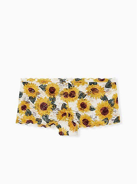 White Daisy Lace Cheeky Panty, SUNFLOWERS, hi-res