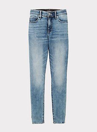 Sky High Skinny Jean- Super Soft Light Wash, FRESH AIR, flat