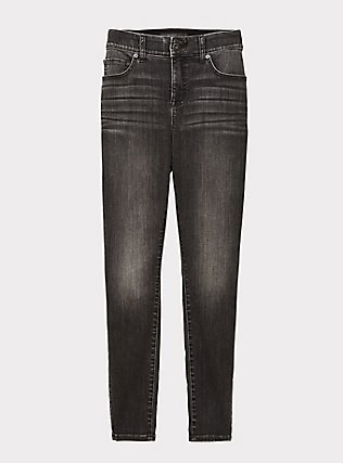 Bombshell Skinny Jean - Super Soft Stretch Grey Wash, IN SPADES, flat