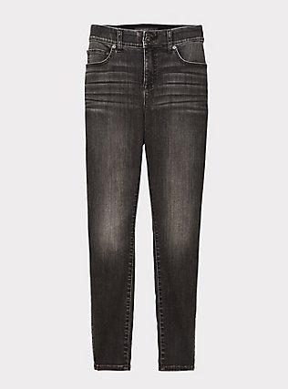 Plus Size Bombshell Skinny Jean - Super Soft Stretch Grey Wash, IN SPADES, flat