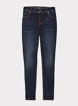 Mid Rise Skinny Jean - Super Soft Stretch Dark Wash, TWILIGHT, flat