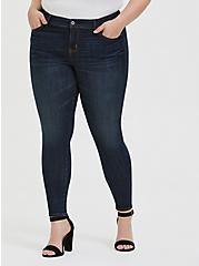Mid Rise Skinny Jean - Super Soft Stretch Dark Wash, TWILIGHT, hi-res
