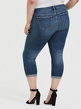 Crop Mid Rise Skinny Jean - Vintage Stretch Medium Wash, SHELBY 68, alternate