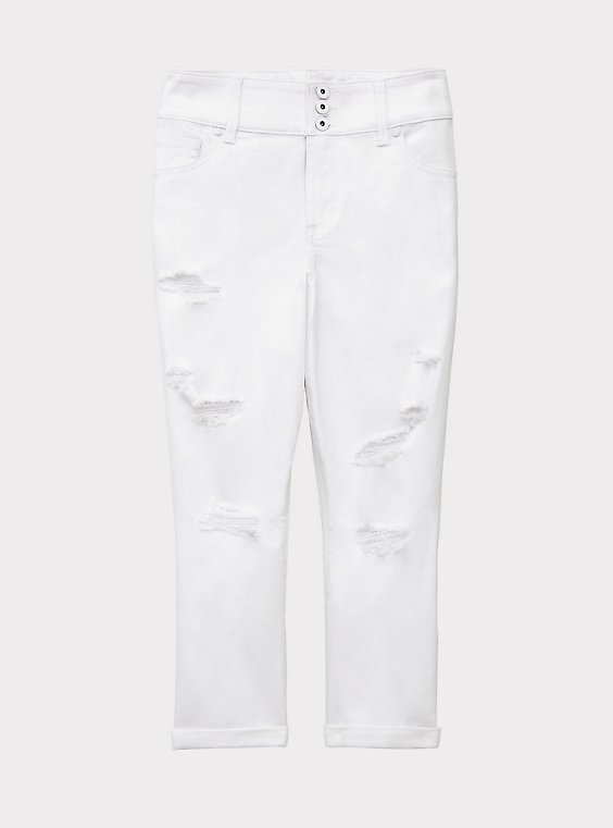 Crop Jegging - Vintage Stretch White, , flat