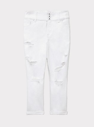 Crop Jegging - Vintage Stretch White, OPTIC WHITE, flat