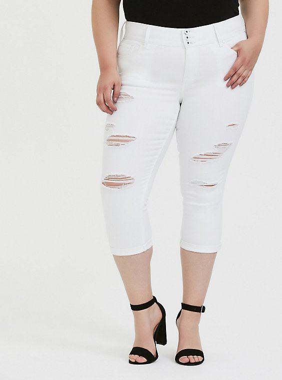 Crop Jegging - Vintage Stretch White, , hi-res