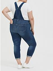 Crop Overall - Vintage Stretch Medium Wash, SHELBY 68, alternate