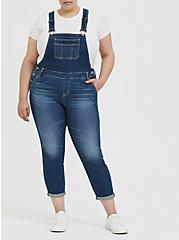 Crop Overall - Vintage Stretch Medium Wash, SHELBY 68, hi-res