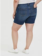 Mid Rise Bermuda Short - Vintage Stretch Dark Wash, BOONDOCKS, alternate