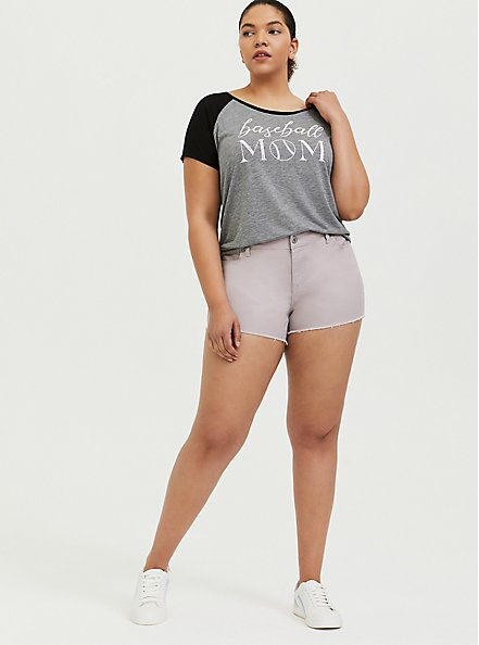 Denim Short Short - Vintage Stretch Lilac, CLOUD GREY, alternate