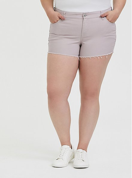Denim Short Short - Vintage Stretch Lilac, CLOUD GREY, hi-res
