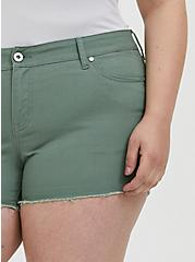 Denim Short Short - Vintage Stretch Light Olive Green, AGAVE GREEN, alternate