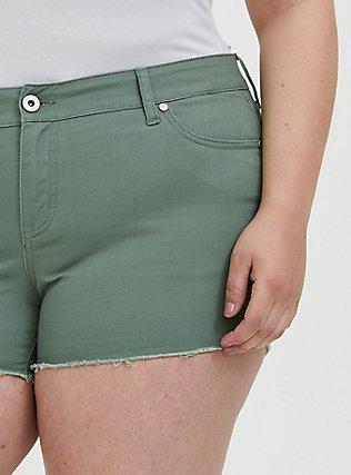 Denim Short Short - Vintage Stretch Light Olive Green, AGAVE GREEN, alternate