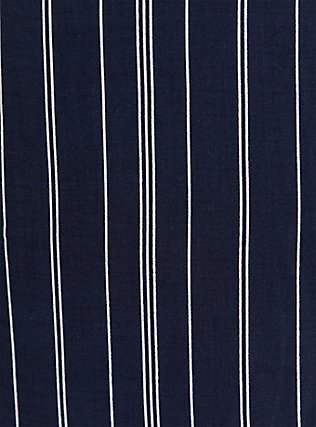 Navy Pinstripe Challis Self Tie Wide Leg Pant, STRIPES, alternate
