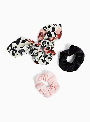 Mixed Animal Print Hair Tie Pack - Pack of 3, , hi-res