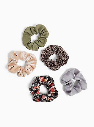 Floral Hair Tie Pack - Pack of 5, , hi-res