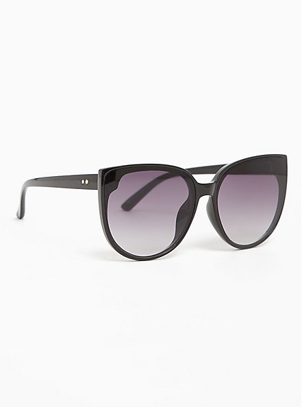 Black & Ombre Cat Eye Sunglasses, , alternate