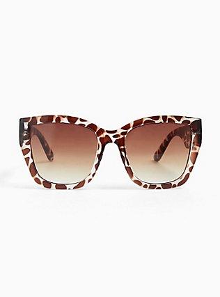 Plus Size Animal Print Oversized Sunglasses, , hi-res
