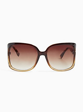 Ombre Animal Print Cutout Sunglasses, , hi-res
