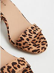 Plus Size Leopard Faux Suede Ankle Strap Tapered Heel (WW), ANIMAL, alternate