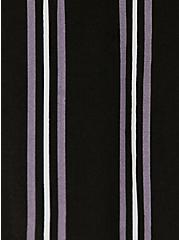 Black Multi Stripe Challis Duster Shirt Kimono, STRIPES, alternate