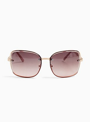 Rose Pink Cutout Sunglasses, , hi-res