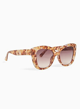 Golden Tortoiseshell Cat Eye Sunglasses, , alternate