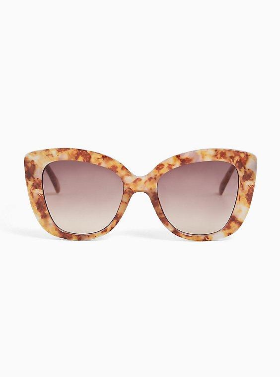 Golden Tortoiseshell Cat Eye Sunglasses, , hi-res