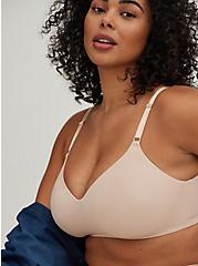 Plus Size Beige 360° Back Smoothing™ Lightly Lined Everyday Wire-Free Bra, ROSE DUST, alternate